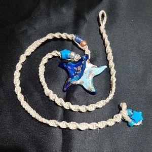 Jewelry - ☆Star Beaded Woven Hemp String Necklace☆